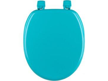 """Abattant WC en Bois """"Bathroom"""" 43cm Turquoise - Paris Prix"""