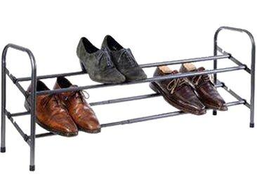 Range Chaussures Extensible 10 Paires Gris - Paris Prix