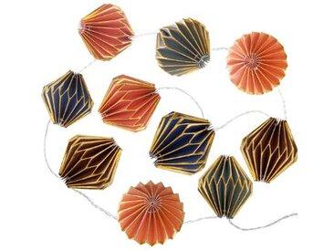 """Guirlande LED Origami """"10 Toupies"""" 250cm Multicolore & Or - Paris Prix"""