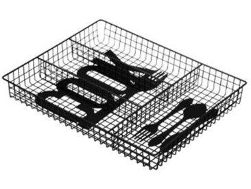 """Range Couverts en Métal """"Cook"""" 34cm Noir - Paris Prix"""