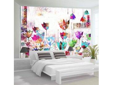 """Papier Peint """"Colorful Tulips"""" - Paris Prix"""