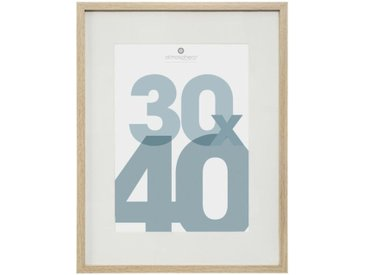 "Cadre Photo en Verre ""Manu"" 30x40cm Naturel - Paris Prix"