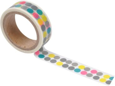 "Ruban Masking Tape ""Pois"" 5M Multicolore - Paris Prix"