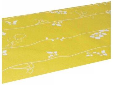 "Chemin de Table Jetable ""Joli Design"" 40cmx3m Jaune - Paris Prix"