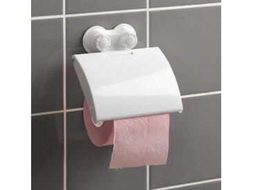 """Dérouleur Papier WC """"Ventouse"""" 15cm Blanc - Paris Prix"""