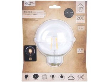"""Ampoule G95 Filaments LED """"Droit"""" 2W Transparent - Paris Prix"""