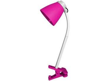"""Lampe de Bureau Déco """"Clipser"""" 36cm Rose - Paris Prix"""