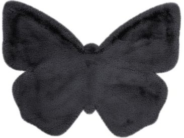 "Tapis Déco Enfant ""Lovely Butterfly"" 70x90cm Anthracite - Paris Prix"
