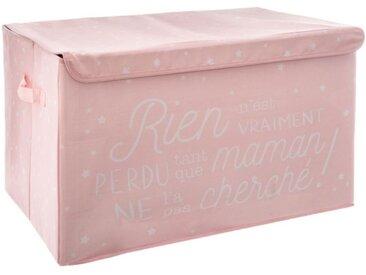 """Coffre de Rangement Pliable Enfant """"Chest"""" 62cm Rose - Paris Prix"""