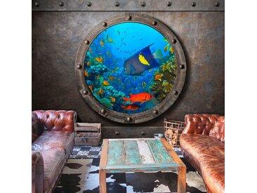 "Papier Peint ""Submarine Window"" - Paris Prix"