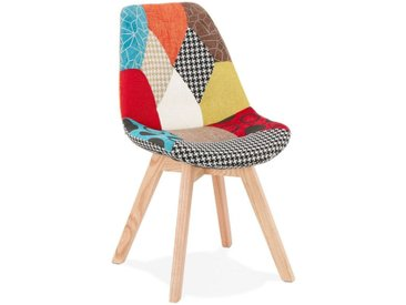 "Chaise Scandinave Patchwork ""Aury"" 82cm Multicolore - Paris Prix"