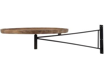 """Table Murale Pivotante Ronde """"Lounge"""" 80cm Noir - Paris Prix"""