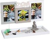 Jardin Zen & 3 Cadres Photos 36cm Blanc - Paris Prix