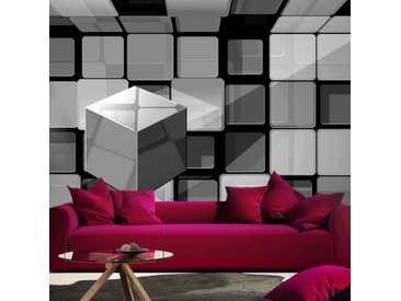 "Papier Peint ""Rubik's Cube in Gray"" - Paris Prix"
