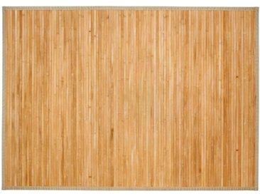 "Tapis en Bambou ""Latte"" 120x170cm Naturel - Paris Prix"