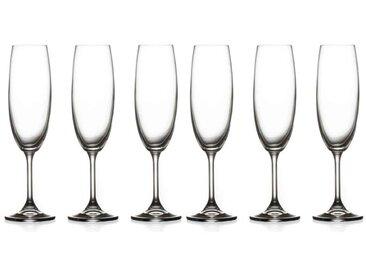 """Lot de 6 Flûtes à Champagne """"Tana"""" 22cl Transparent - Paris Prix"""