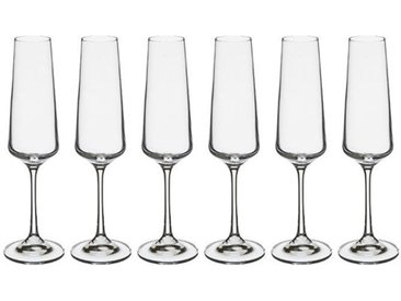"Lot de 6 Flûtes à Champagne ""Selenga II"" 16cl Transparent"