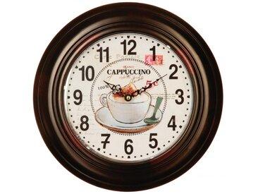 "Pendule 32 cm ""Cappuccino"" Noir - Paris Prix"