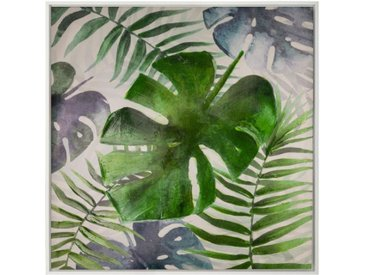 "Toile Peinte ""Jungle"" 78x78cm Multicolore - Paris Prix"