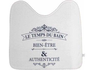"""Tapis Contour WC Imprimé """"Vintage"""" 45x45cm Blanc - Paris Prix"""