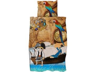"""Parure de Lit Enfant 2 Pièces """"Pirate"""" 140x220cm Multicolore"""