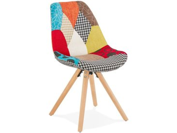 "Chaise Design Patchwork ""Aury"" 82cm Multicolore - Paris Prix"