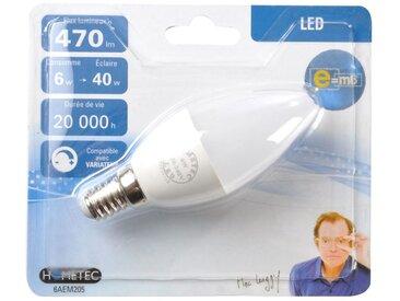 """Ampoule LED """"Flamme 6W"""" 10cm Blanc - Paris Prix"""