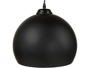 """Lampe Suspension Boule Design """"Degla"""" 30cm Noir - Paris Prix"""