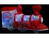 """Décoration Lumineuse """"Locomotive"""" 67cm Rouge - Paris Prix"""