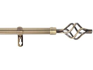 """Kit Tringle Déco Extensible """"Twisty"""" 120-210cm Laiton - Paris Prix"""