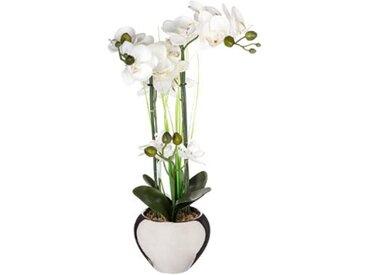 """Plante Artificielle """"Orchidée"""" 53cm Argent - Paris Prix"""