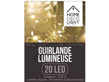 "Guirlande Lumineuse Led ""20 Led"" 230cm Blanc - Paris Prix"