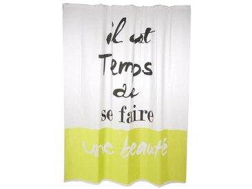 """Rideau de Douche """"Eva Words"""" 180x200cm Vert - Paris Prix"""