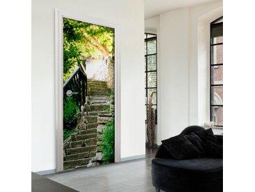 """Papier Peint pour Porte """"Stony Stairs"""" 210x100cm - Paris Prix"""