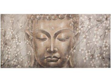 """Toile Peinte """"Bouddha"""" 58x118cm Multicolore - Paris Prix"""