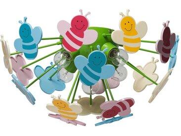 """Plafonnier Enfant """"Bees"""" 47cm Multicolore - Paris Prix"""
