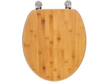 """Abattant WC Design """"Bambou"""" 37x45cm Naturel - Paris Prix"""