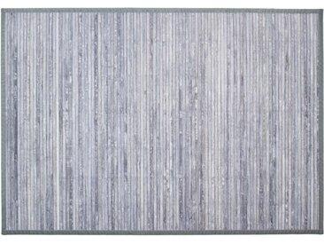 """Tapis en Bambou """"Latte"""" 120x170cm Gris Clair - Paris Prix"""