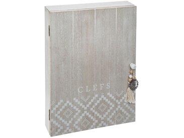 """Boîte à Clés 1 Porte """"Relief Été"""" 30cm Blanc - Paris Prix"""