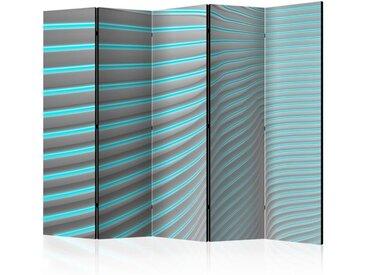 """Paravent 5 Volets """"Neon Blue"""" 172x225cm - Paris Prix"""