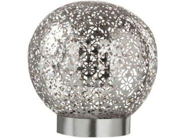 """Lampe Boule LED """"Oriental"""" 18cm Argent - Paris Prix"""