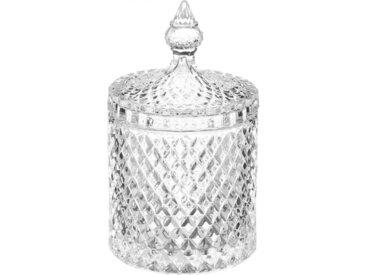 """Bonbonnière en Verre """"Diamant"""" 14cm Transparent - Paris Prix"""