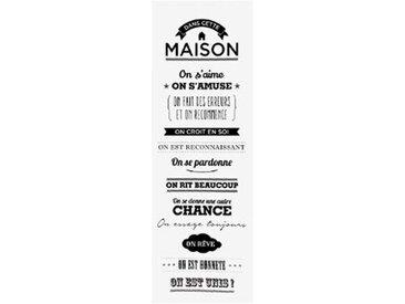 """Toile Imprimée """"Règles de la Maison"""" 30x90cm Blanc - Paris Prix"""