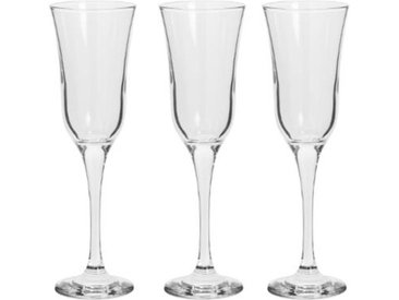 "Lot de 3 Flûtes à Champagne ""Flavie"" 19cl Transparent - Paris Prix"