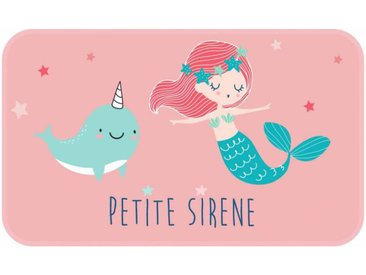 "Tapis Enfant Déco ""Petite Sirena"" 45x75cm Rose - Paris Prix"