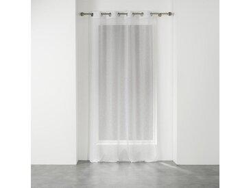 """Rideau Voilage à Oeillets """"Elea"""" 140x240cm Blanc & Argent"""