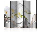 """Paravent 5 Volets """"Pearl Dance of Orchids"""" 172x225cm - Paris Prix"""
