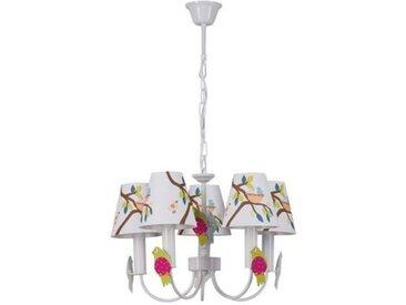 "Lampe Suspension Enfant ""Birdy"" 99cm Multicolore - Paris Prix"