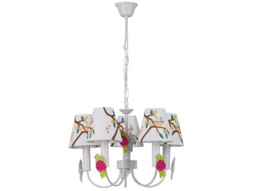 "Lampe Suspension Enfant ""Birdy"" Multicolore - Paris Prix"