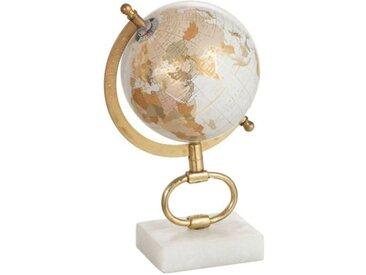 """Globe sur Pied en Marbre """"Mappemonde"""" 27cm Or - Paris Prix"""